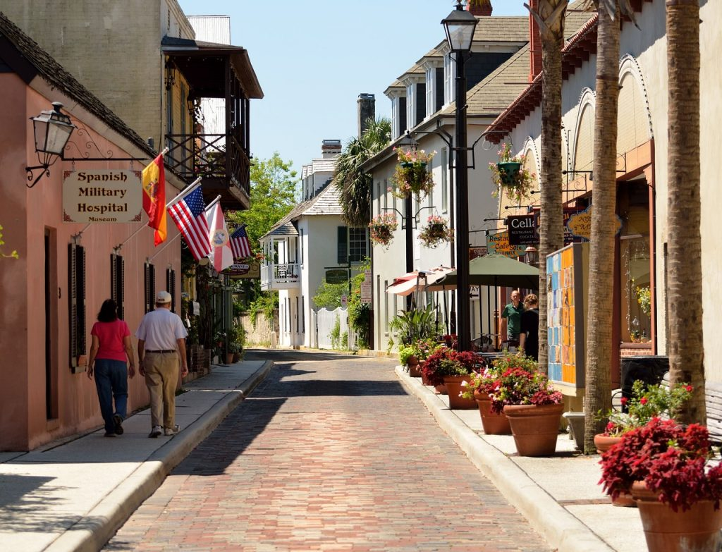 aviles street, oldest street usa, historic