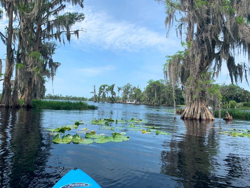 Kayak in waters in Clermont Florida