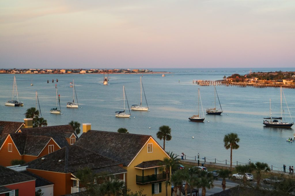 Sailboats in the Sunset - St. Augustine, Florida